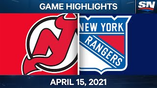 NHL Game Highlights | Devils vs. Rangers - Apr. 15, 2021