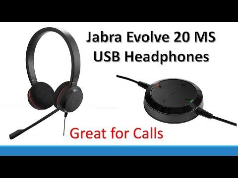 Jabra Gn Netcom Evolve 20 Uc Duo Ms Optimized Usb Headband Youtube