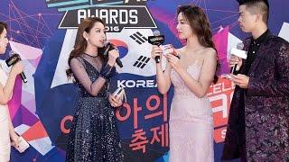 Chi Pu tự tin ứng đáp bằng tiếng Anh trên thảm đỏ WebTV Asia Awards 2016