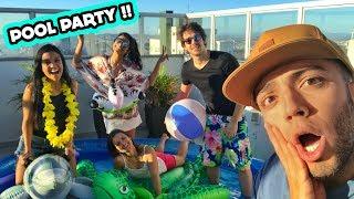 FIZEMOS UMA POOL PARTY NA NOSSA CASA!! #ACasaDosFlop
