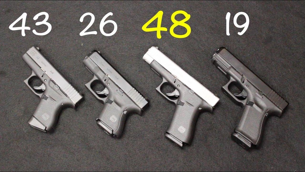 Glock 48 vs 19 vs 43 vs 26 - YouTube