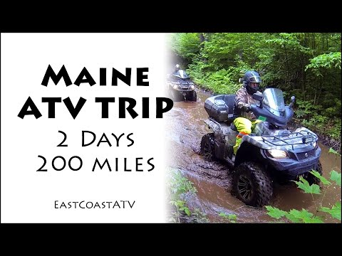 Maine ATV Trails -  Two Days & 200 Miles Abbot, Rockport And Moosehead Lake.