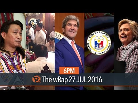Kerry, National Security Council, Clinton | 6PM wRap