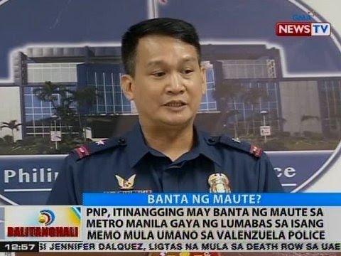 BT: PNP, itinangging may banta ng Maute sa Metro Manila
