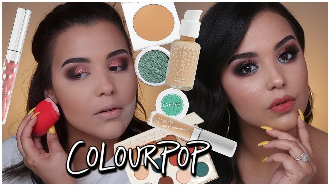 8bf72309c86 FULL FACE USING ONLY COLOURPOP! NEW NO FILTER FOUNDATION TESTED |  MakeupByAmarie