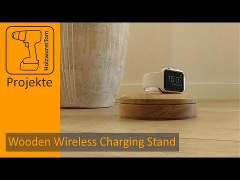 How to build a Wireless Charging Stand for Apple Watch (wood turning)
