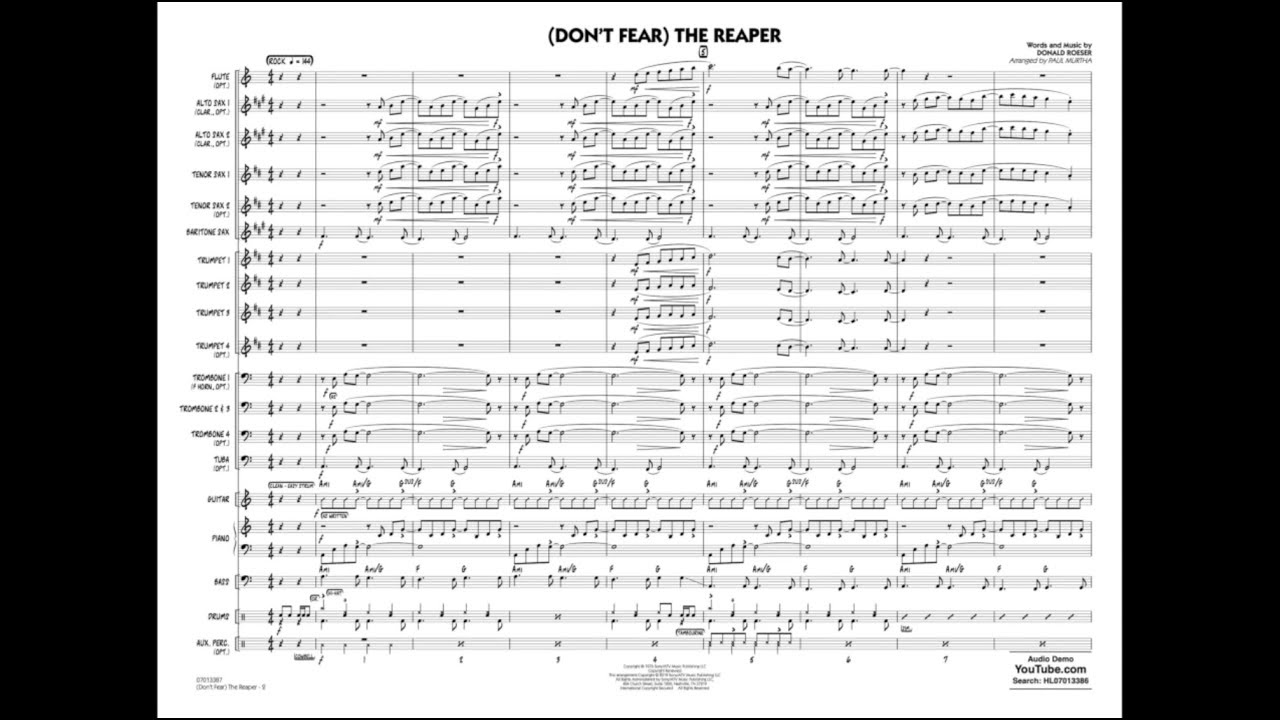 (Don't Fear) The Reaper by Don Roeser/arr. Paul Murtha