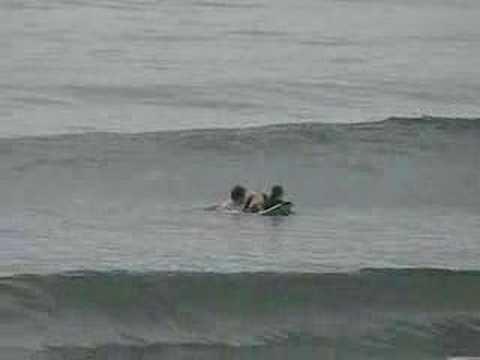 親子でサーフィン! BSロングボードで二人乗り