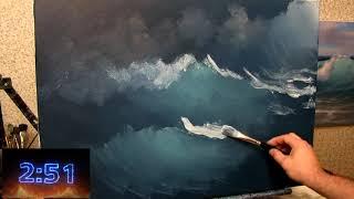 Что можно накалякать за пять минут) Южаков пишет этюд моря.