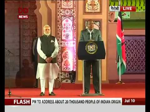PM Modi addresses Indian community in Nairobi, Kenya