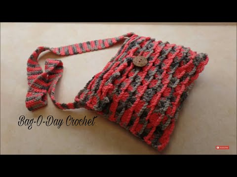 CROCHET How To #Crochet Easy Shells & Chains Cross Body Bag Purse TUTORIAL #337