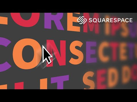 Squarespace Text Animation On Hover | Multicoloured Text Effect