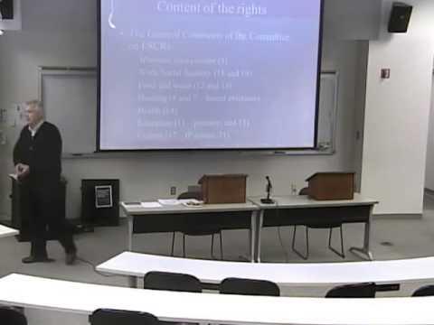 Economic, Social & Cultural Rights
