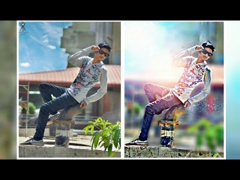 picsart editing tutorial alone boy sitting photo manipulation