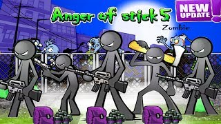 Anger Of Stick 5 UPDATE Defence Mode: All Weapons Unlocked + Grenades HACK 2019 - Android GamePlay#5