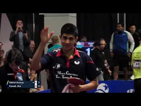 2019 US National Table Tennis Championships - Mens Final - Kanak Jha Vs Nikhil Kumar (Highlights)