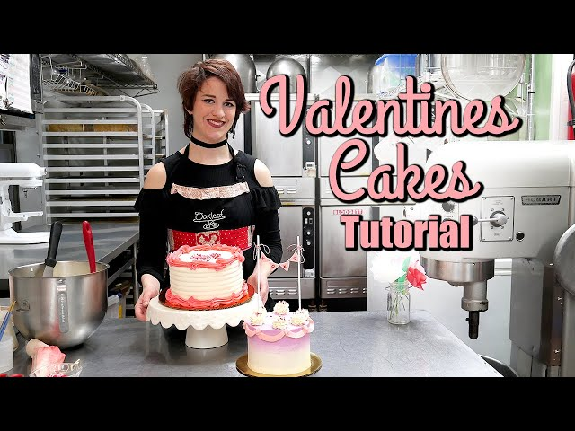 How to Decorate Two Easy Valentines Cakes