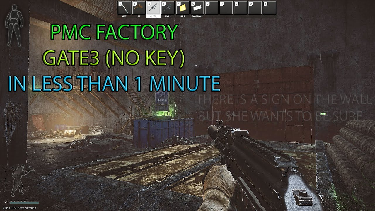 Escape From Tarkov Pmc Factory Gate 3 Location Youtube