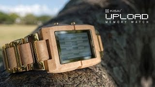 Wooden Watches: Kisai Upload Wood Watch Design with MicroSD Memory from Tokyoflash Japan