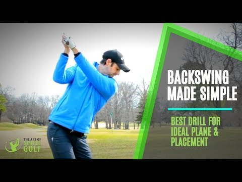 PERFECT BACKSWING PLANE AND PLACEMENT: LIFT ARMS SIMPLE GOLF SWING DRILL