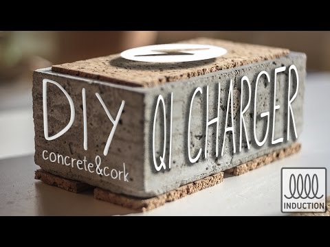 DIY Concrete QI-Charger (wireless phone charging)