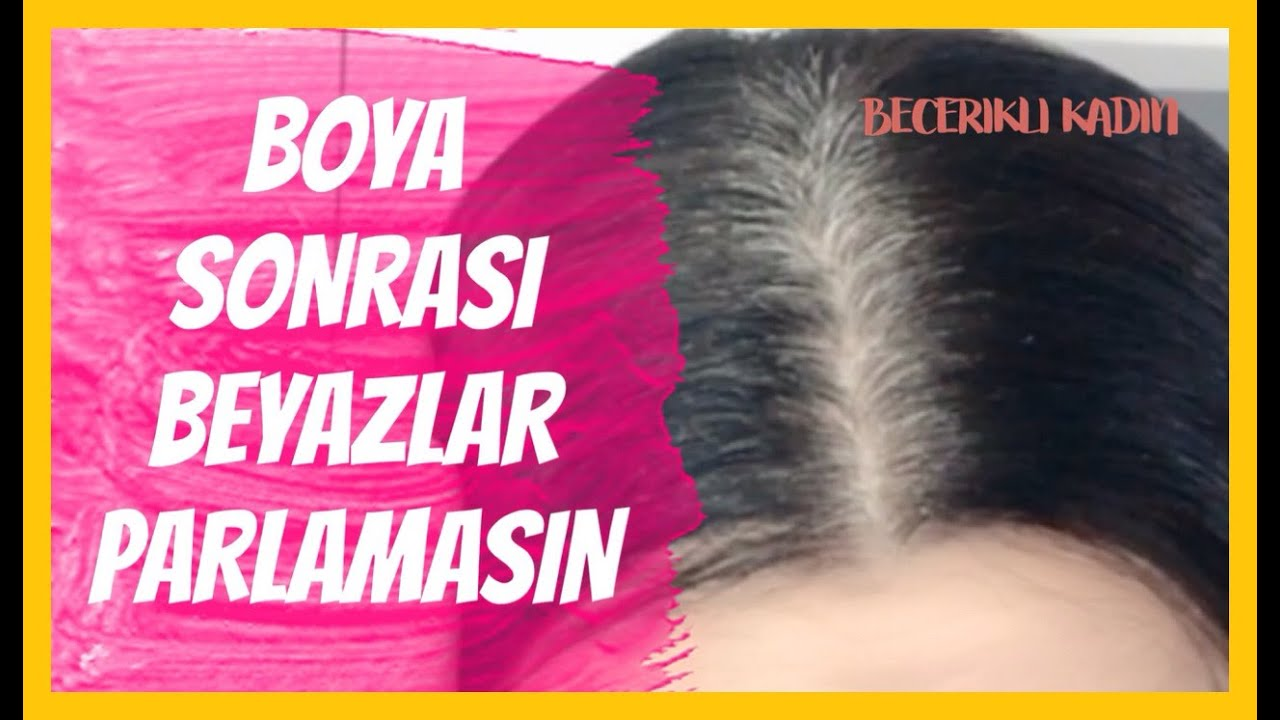 BEYAZ SAÇLARA ELVEDA (Evde Saç Boyama ve Beyazları %100 Kapatma)