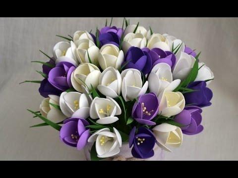 Цветы из фоамирана для открытки с 880