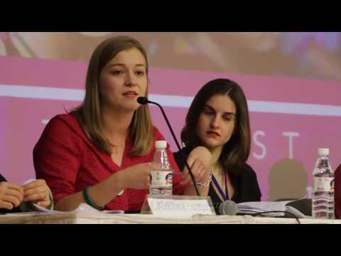 Raphaelle Remy-Leleu at World Congress Against Sexual Exploitation of Women & Girls
