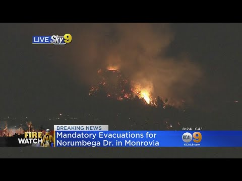 Mandatory Evacuations Issued As Brush Fire Erupts In Monrovia