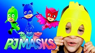 PJ MASKS Disney DIY PJ Masks with Blaze and Paw Patrol Video Adventure KIDS Superhero Mask Toy