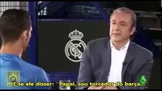 Cristiano Ronaldo e a possibilidade do seu filho torcer para o Barcelona: ''IMPOSSÍVEL!''