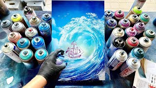 The Wave - SPRAY PAINT ART - by Skech
