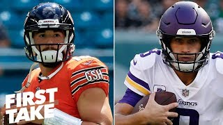 Stephen A. picks Bears to win NFC North, Max takes Vikings | First Take