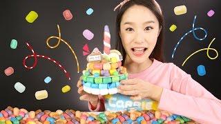 캐리의 플레이콘 장난감 생일 케이크 만들기 놀이 CarrieAndToys