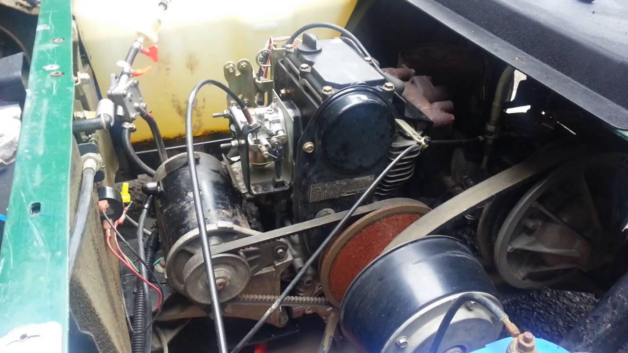 2002 EZGO Gas Golf cart 295cc oil change 1030w 15 quarts capacity  YouTube