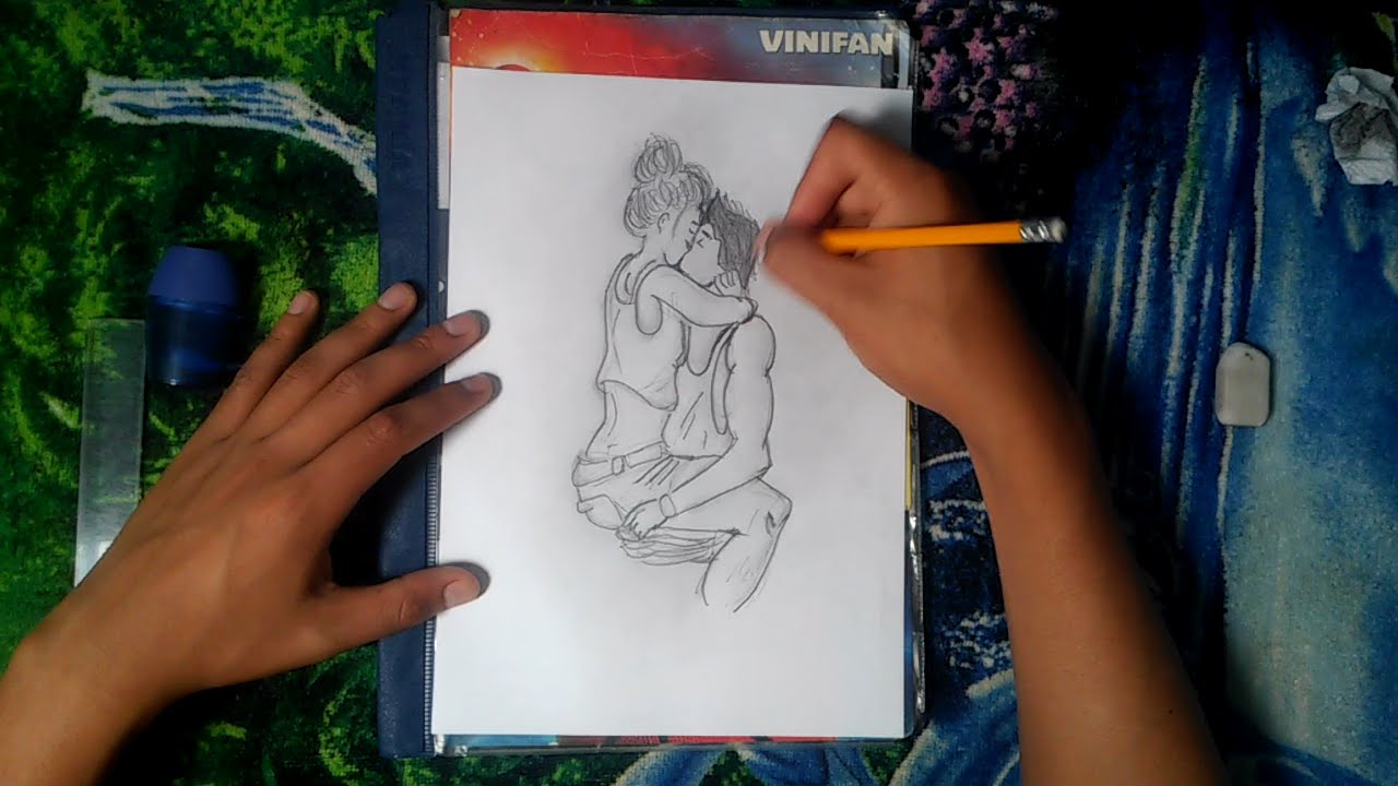 Dibujando A Una Pareja Dibujos Con Lapiz Youtube