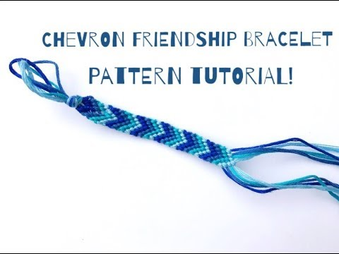 Chevron Friendship Bracelet Pattern Tutorial! Step by Step ...