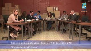 Concejo Municipal extraordinario 30 de diciembre 2019