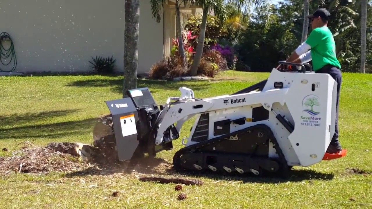 Newest Stump Grinder Attachment for our Bobcat MT85 🌳 SaveMore Tree Service