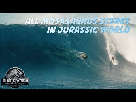 All Mosasaurus Scenes in Jurassic World | Samdev MovieClips