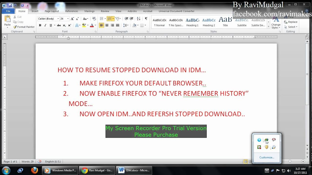 how to resume mediafire stopped download in internet download