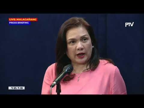 Press briefing sa Malacañang nina Pres. Spox Roque at SOJ Aguirre