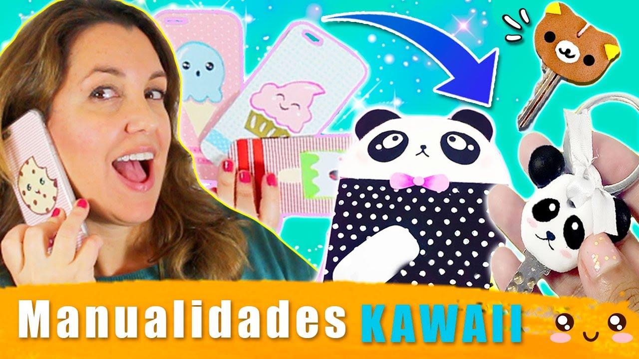 MANUALIDADES KAWAII 😍 ¡Cómo decorar tus complementos al ESTILO KAWAII 💟 Funda kawaii, llavero kawaii