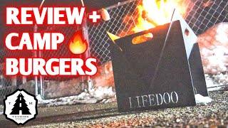 Small Portable Fire Pit & Camp Burgers 2 ways