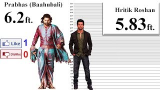 Baahubali (Prabhas) Height Comparison with 35 S...