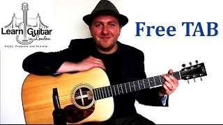 Guitar tutorial with free TAB for When You Say Nothing At All by Ro...