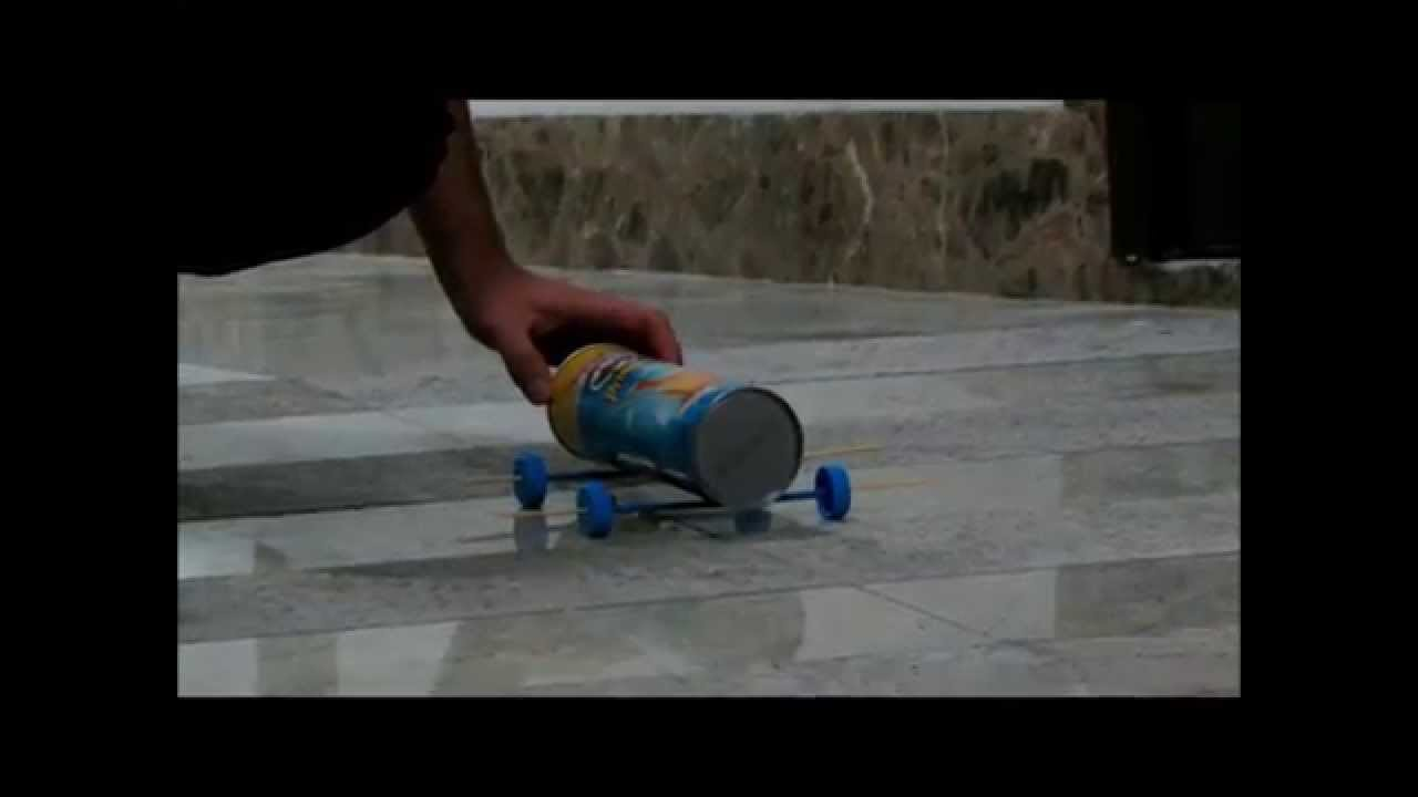 How to make a simple car from trash - YouTube