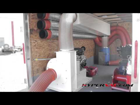Duct Cleaning Equipment Vacuum System H1 Trailer By Hypervac Technologies