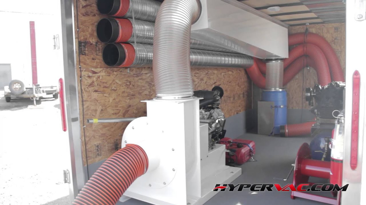 Duct Cleaning Equipment Vacuum System H1 Trailer By