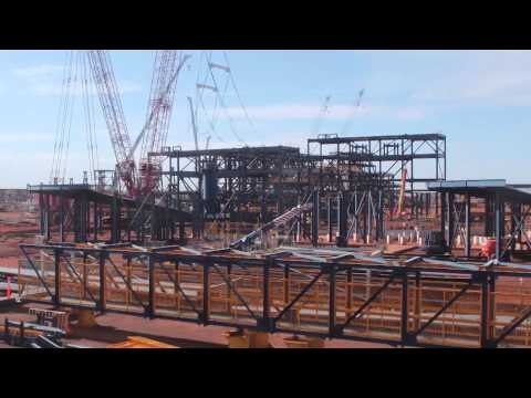 Roy Hill Project Construction & Mining Time Lapse - March 2015